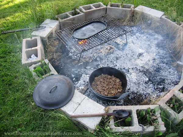 Dutch Oven and Griddle on the campfire