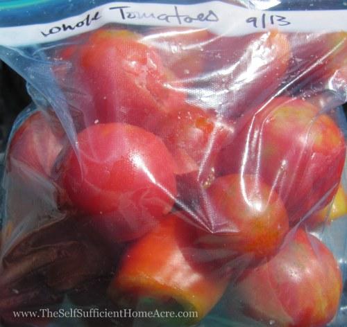 Freezing Tomatoes