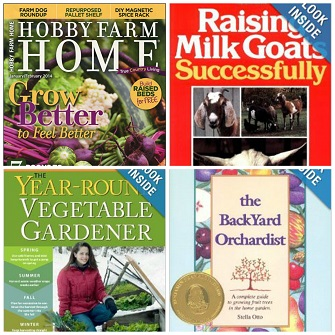 Some of the great prizes we are giving away this month! Stop back next week for a chance to win the Year Round Vegetable Gardener and more!