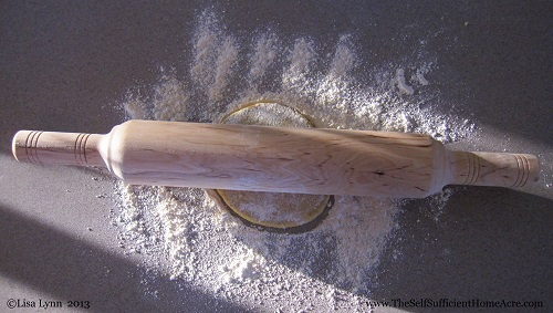 Check out the rolling pin my Dad had made in an Amish shop for me!
