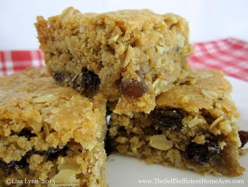 Oatmeal Raisin Bar Cookies from Scratch