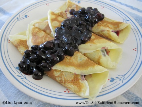 Blueberry Crepes for Breakfast