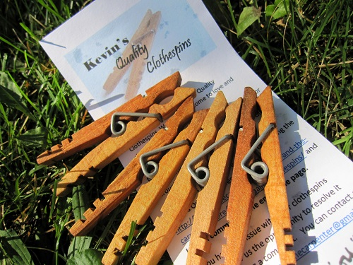 Laundry Day with Kevin's Quality Clothespins!