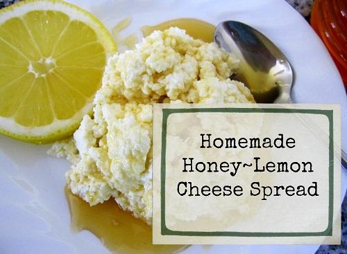 Homemade Honey~Lemon Cheese Spread
