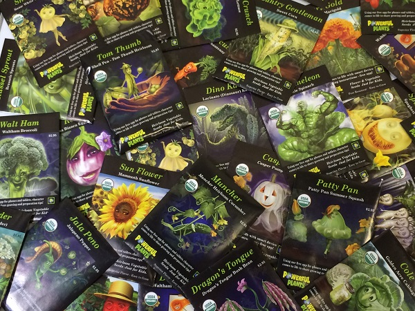 Look at all of the wonderful non-gmo seed packs available through Powerful Plants!