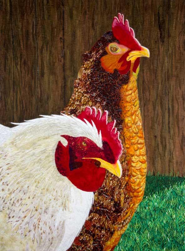 A Very Pretty Chicken Quilt