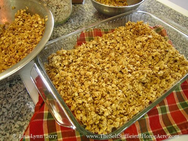 Homemade Maple Nut Granola