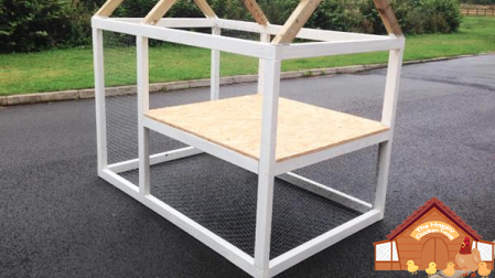 coop frame with the floor fitted