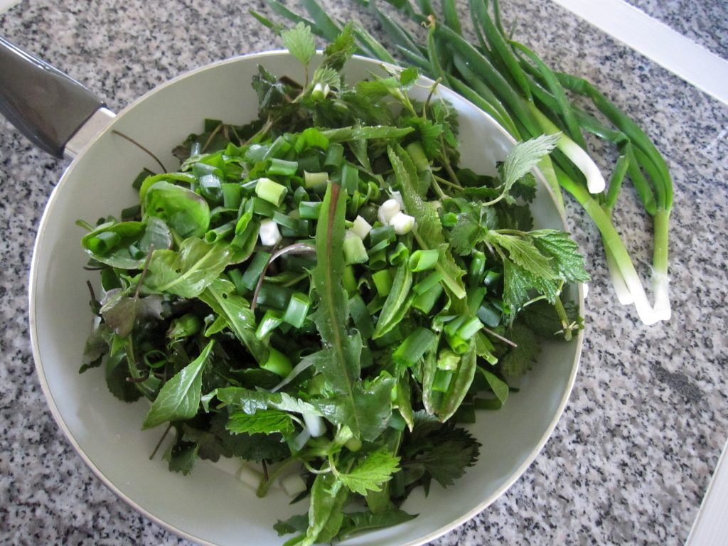 Foraged greens - ready to cook