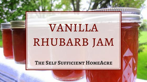 vanilla rhubarb jam