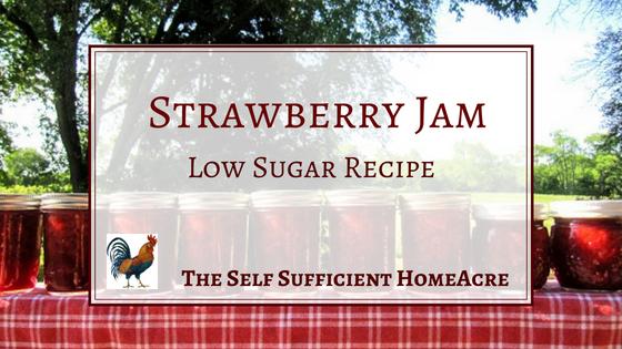 Strawberry Jam Reduced Sugar Recipe