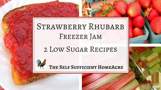 Strawberry Rhubarb Freezer Jam ~ 2 Low Sugar Recipes