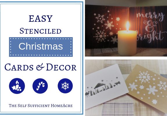 Easy Stenciled Christmas Cards & Decor (1)