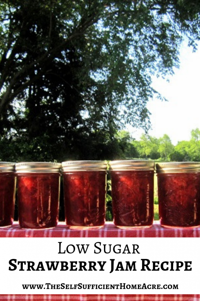 Low Sugar Strawberry Jam Recipe - The Self Sufficient HomeAcre