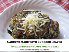Carduni Made with Burdock Leaves by The Self Sufficient HomeAcre