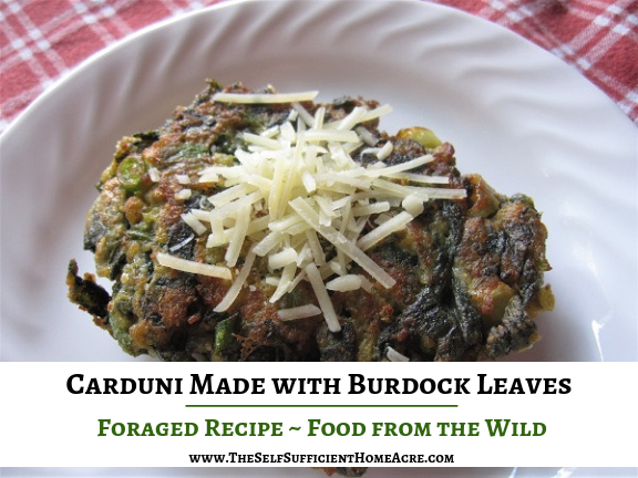 Carduni Made with Burdock Leaves - The Self Sufficient HomeAcre