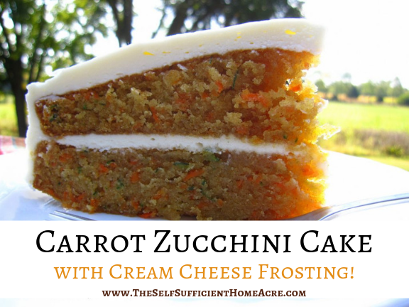 Carrot Zucchini Cake with Cream Cheese Frosting