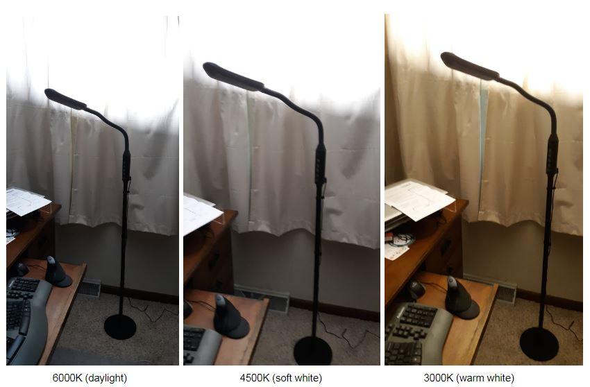 LiteSpan 2in1 room lighting at 3 color temperatures