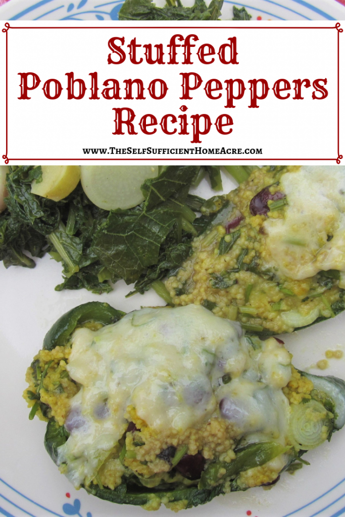 Stuffed Poblano Peppers Recipe - The Self Sufficient HomeAcre