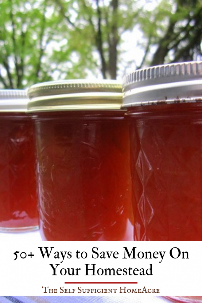 50+ Ways to Save Money on Your Homestead by The Self Sufficient HomeAcre