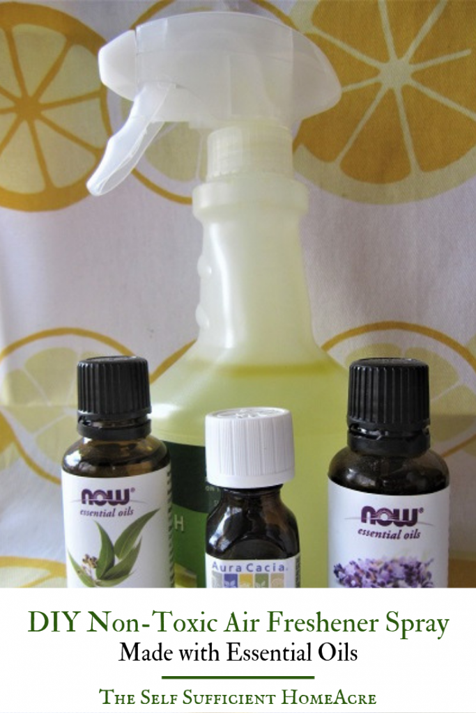 DIY Non-Toxic Air Freshener Spray with Essential Oils by The Self Sufficient HomeAcre
