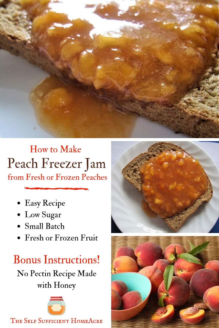 How to Make Peach Freezer Jam from Fresh or Frozen Peaches