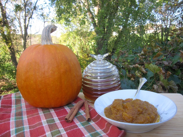 Easy Pumpkin Butter Recipe Sweetened with Maple!