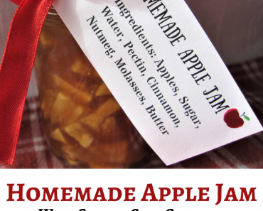 Apple Jam Canning Recipe with Printable Gift Tags & Recipe Card!