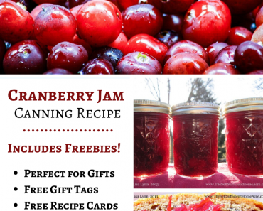 How to Make Cranberry Jam with Free Printable Recipe Card!