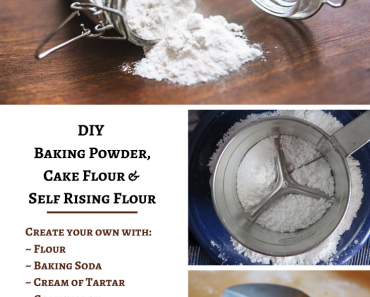 DIY Baking Powder, Cake Flour, & Self Rising Flour