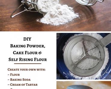 DIY Baking Powder, Cake Flour & Self Rising Flour