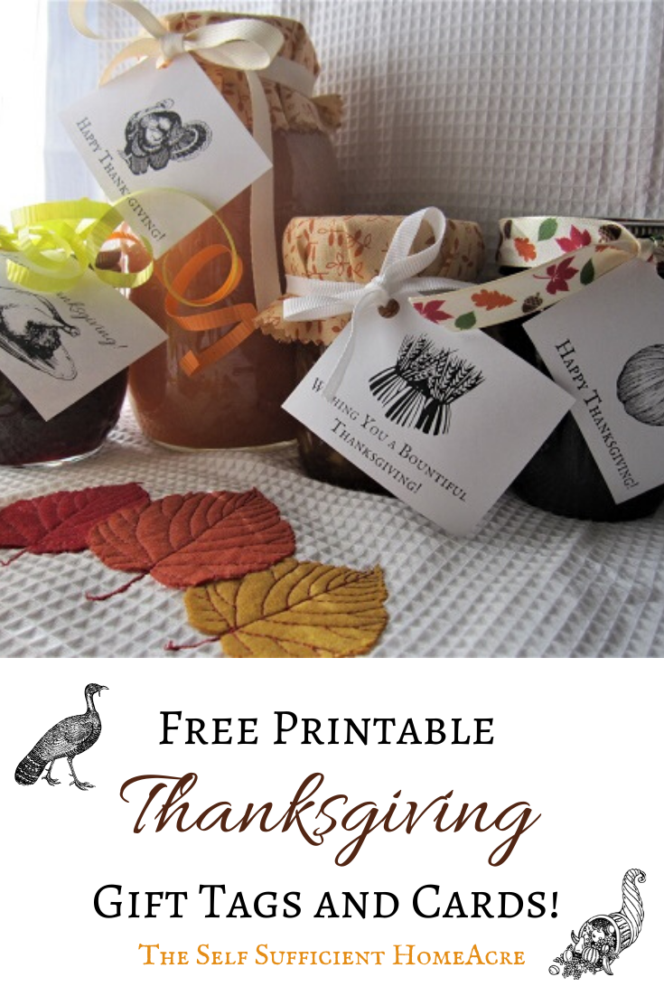 Vintage Thanksgiving Gift Tags Cards Free Printables The Self Sufficient Homeacre
