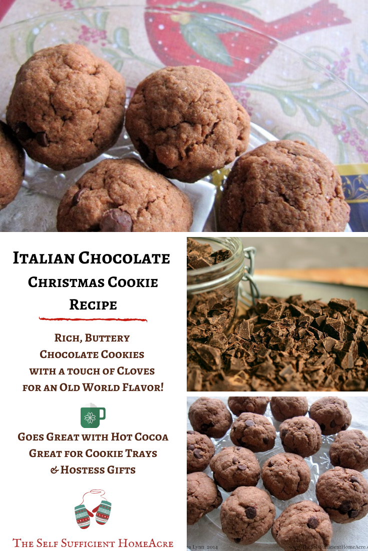 Italian Chocolate Christmas Cookies The Self Sufficient Homeacre