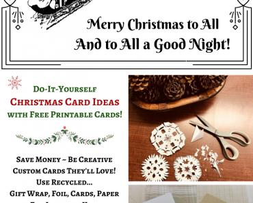 DIY Christmas Card Ideas & Free Printables
