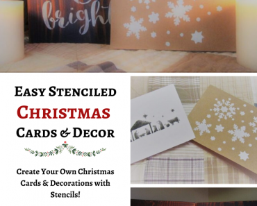 Easy Stenciled Christmas Cards and Decor