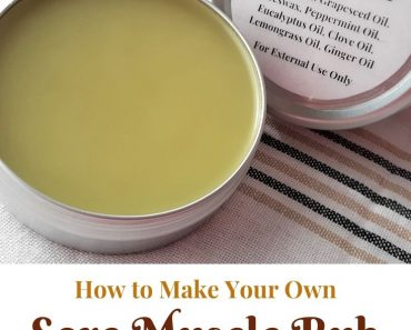 How to Make Sore Muscle Rub From Scratch