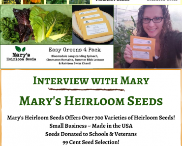 Mary's Heirloom Seeds – An Interview