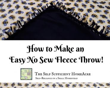 no sew fleece throw