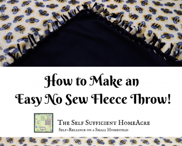 How to Make an Easy No Sew Fleece Throw