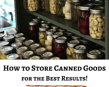 How to Store Canned Good for the Best Results