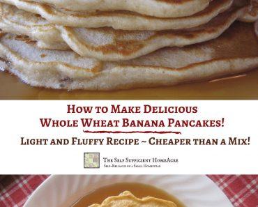 How to Make Delicious Whole Wheat Banana Pancakes