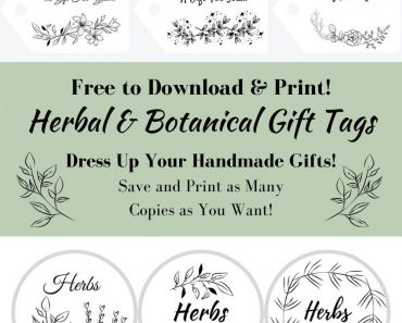 Save Money with Free Botanical Gift Tags