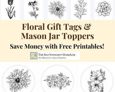Flower Gift Tags and Mason Jar Toppers