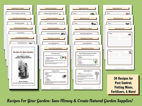 Recipes for Your Garden eBook